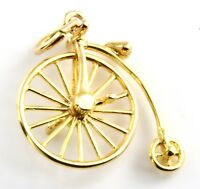 9ct Gold Charm - Penny Farthing 1.8g 24mm 9k 375