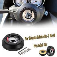 Steering Wheel Short Hub Adapter Quick Release Kit For Mazda Miata Rx-7 Rx-8 T