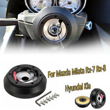 Steering Wheel Short Hub Adapter Quick Release Kit For Mazda Miata Rx-7 Rx-8 T