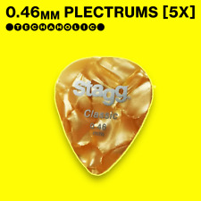 5x Stagg Plectrums | 0.46mm, Assorted Colours