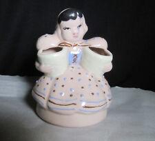 Unique Vintage Hand Painted Made in Japan Maiden Holding 2 Barrels Planter Vase