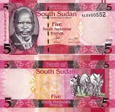 SOUTH SUDAN 5 Pounds Banknote World Paper Money UNC Currency Pick p11b 2015