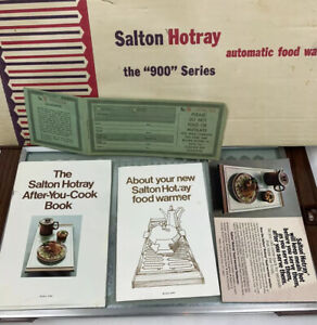 Vintage 1971 Salton Hotray Automatic Food Warmer Glass Hot Plate H920 Complet D3