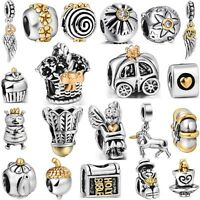 HOT! Brand Gold Fashion Silver Charm Bead Fit 3mm European 925 Bracelet Jewelry