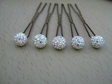 Lot 5 pics, pinces, Accessoires de Cheveux Mariée/Mariage/Soirée  perles STRASS