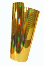 "Holographic Gold Rainbow Oil Slick Vinyl 24"" x 30 ft"