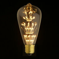 Beauty Edison Light E27 Vintage glass LED Bulb wall lamp Fireworks decor flower