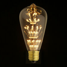 LED Squirrel Light E27 Edison Screw Vintage Filament Bulb Style lamp Fireworks