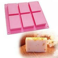 6-Cavity Making-CB Mold Soap Rectangle DIY Silicone Tray For Homemade Mould
