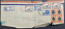 KUT 1941 Registered Multistamp Airmail Cover to GB, Values to 1/-, Nairobi PMK
