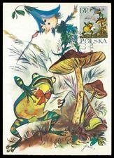 POLEN MK 1962 MÄRCHEN HEINZELMÄNNCHEN FAIRY TALES CARTE MAXIMUM CARD MC CM h0447