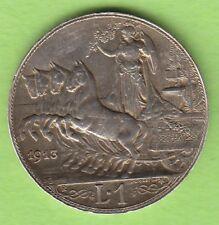 Italien 1 Lira 1913 toll erhalten besser als vz nswleipzig