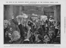 1906 Antique Print - LANCASHIRE Manchester Balfour National Liberal Club (153)