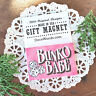 "BUNKO BABE Party Favor Player GIFT New USA Pink 2""x3"" DecoWords Fridge Magnet"