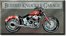 Busted Knuckle Garage Bike Harley Tin Sign Metal Poster MADE in the USA