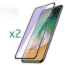 LOT X2 VITRE DE PROTECTION FULL COVER �‰CRAN INT�‰GRAL 3D EN VERRE TREMP�‰ IPHONE X