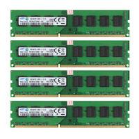 4x For Samsung 8GB 2RX8 PC3-12800U DDR3 1600MHz 240pin Desktop RAM Memory @RY