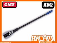 GME AE4002 UHF 15CM BLACK STAINLESS STEEL FLEXIBLE 477 MHZ ANTENNA 2.1 DBI