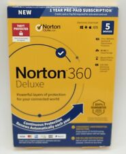 NORTON 360 DELUXE INTERNET SECURITY 2021 (5 DEVICE/1 YEAR) *NEW in RETAIL BOX