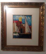 Tableau Saint Tropez   huile peintre Bu/ 1996
