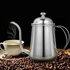 Gooseneck Coffee Tea Kettle Pour Over Hand Drip Pot Stainless Steel 650ml【US】