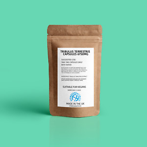 Tribulus Terrestris 6750mg Capsules Natural Testosterone Booster for Men Vegan