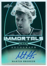 "MARTIN BRODEUR ""IMMORTALS AUTOGRAPH #3/5"" LEAF METAL DRAFT 2016"