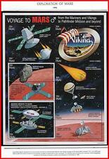 PALAU 1996 VOYAGE TO MARS M/S + 2 S/S MNH SPACE, ASTRONOMY, PARACHUTES