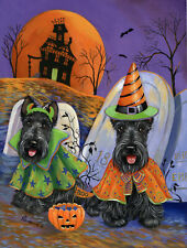 "Precious Pets House Flag - Scottie Haunted House 12"" x 18"" - Charity!"