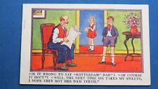 Vintage Comic Postcard 1932 Dentist Orthodontist ROTTERDAM Rotten Teeth Sweets