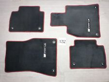FLOOR MATS 5 PIECE LEXUS LS460 BLACK RED NICE USED SET WITH CARGO MAT 13-17 RWD