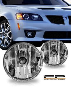 2008-2009 Pontiac G8 2010 G6 Replacement Fog Lights Housing Clear Lenses Pair