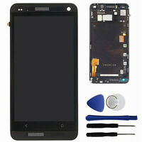 Black For HTC One 801e M7 LCD Display Touch Screen Digitizer + Frame Assembly