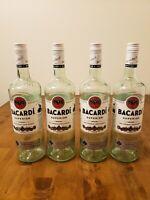 Bacardi Superior 1L Empty Bottles Lot Of 4