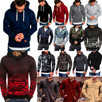 Mens Hoodie Hooded Sweatshirt Gym Casual Sport Pullover Jogger Workout Jacket US