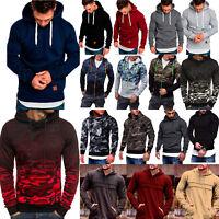 Mens Winter Warm Hoodie Hooded Sweatshirts Boys Pullover Jackets Sweater Outwear