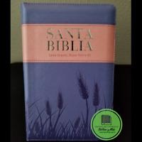 Biblia Reina Valera 1960 Letra Grande Ziper index Lila Espigas