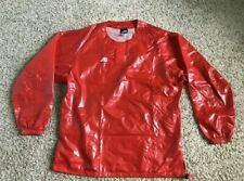 LOT OF Mizuno Polyurethane wet look pvc pullover baseball Jackets warm-up Red