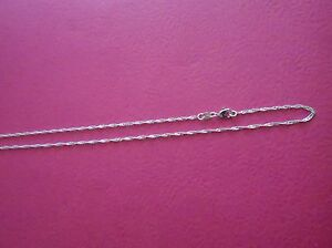 Solid 925 Sterling Silver Singapore Waterwave Chain Necklace with Lobster Clasp