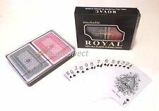 3 Sets Of Double Decks Playing Cards Royal Brand Washable 100% Plastic (6 Dks)