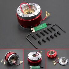 Car Steering Wheel Quick Release Hub Adapter Snap Off Boss Kit Red Universal