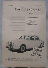 1957 Jaguar 3.4 Original advert No.1
