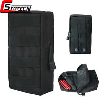 Military Tactical Utility Molle Tool Bag Accessory Pouch for Vest Backpack Black