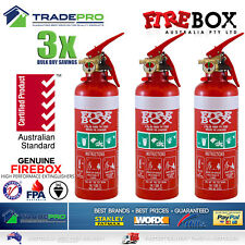3x Fire Extinguisher ABE Professional Dry Powder & Bracket Car Boat Home .75kg
