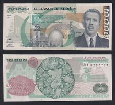 Mexico 10000 Pesos 1989 Fds / UNC C-07