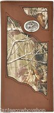 Leather Real Tree Camo Bi-Fold Wallet-3 1/2x7 1/4 ELK Concho Western Style Camo