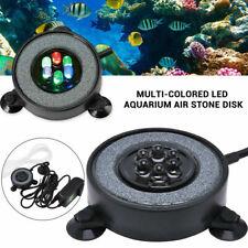 Pump Oxygen Diffuser Fish Tank Appliance LED Aquarium Light Air Bubble Stone
