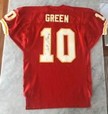 TRENT GREEN AUTO AUTOGRAPH SIGNED GAME USED ISSUED REEBOK JERSEY CHIEFS JSA