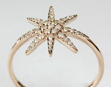 14k Rose or Yellow Gold Sunburst Ring with Diamond (Dia.0.18cts)