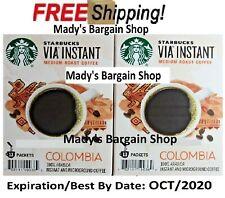 Starbucks VIA Colombia Instant Medium Roast Coffee 26 Packs 2X13 CT EXP OCT-2020